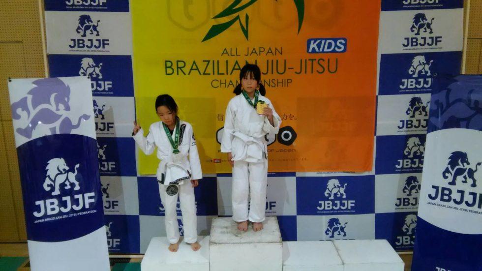 日本ブラジリアン柔術連盟全日本キッズ柔術選手権|表彰台写真02