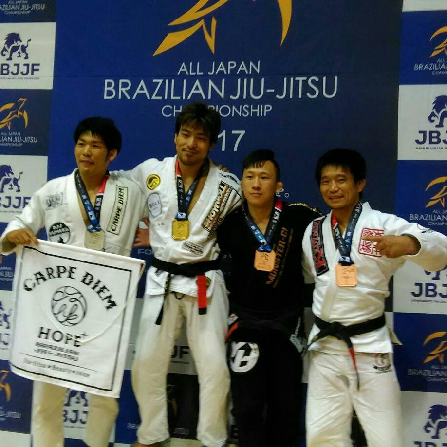 日本ブラジリアン柔術連盟全日本選手権|表彰台写真01
