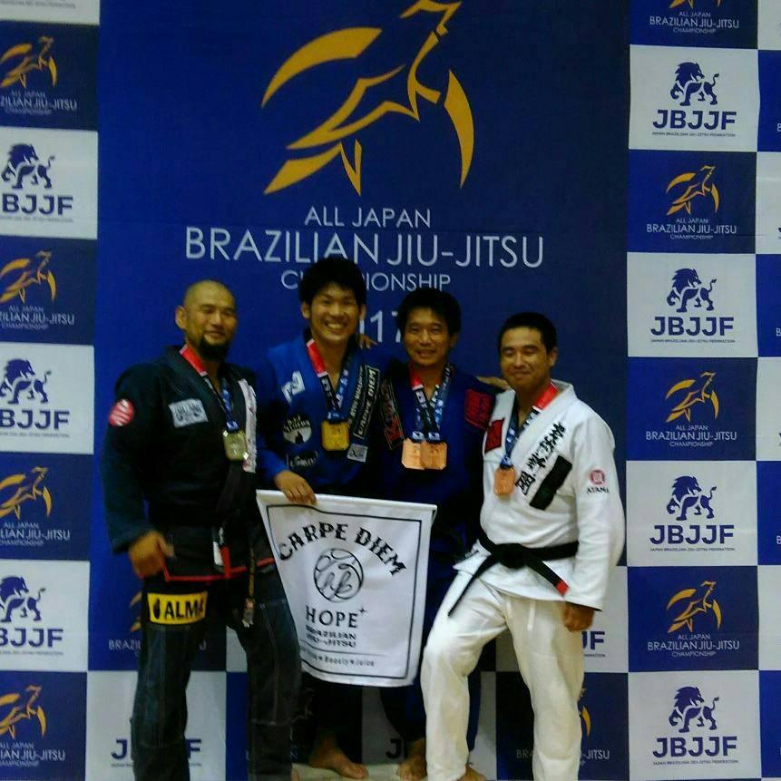 日本ブラジリアン柔術連盟全日本選手権|表彰台写真02